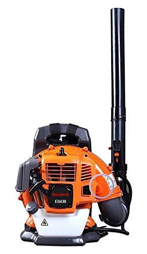 BOUDECH Soffiatore a Zaino 43cc 1.25Kw Semi-Professionale ed Ultra-Leggero con tracolle imbottite Max-Comfort e velocità di soffiaggio foglie fino a 150Km/h