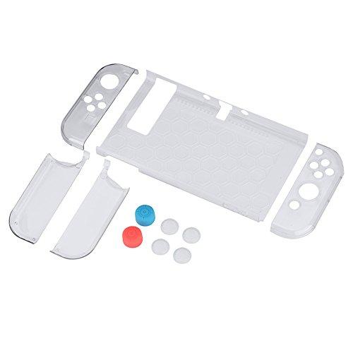 Topiky 9-in-1 beschermhoes, ABS, draagbaar, volledige krasbescherming voor Nintendo Switch Console Joycon Controller