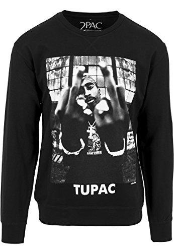 Mister Tee PAC Crewneck Sweatshirt Men's, Black, XL