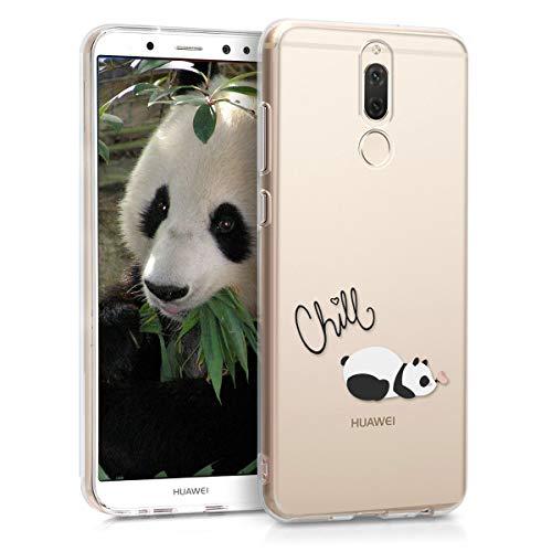 kwmobile Huawei Mate 10 Lite Hülle - Handyhülle für Huawei Mate 10 Lite - Handy Case in Panda Schmetterling Design Schwarz Weiß Transparent