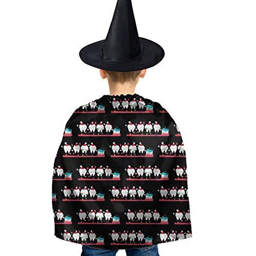 Amoyuan Unisex Kids Kerstmis Halloween Heks Mantel Met Hoed Tandarts Kerst Tand Wizard Cape Fancy Jurk