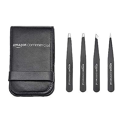 AmazonCommercial Eyebrow Tweezers Stainless