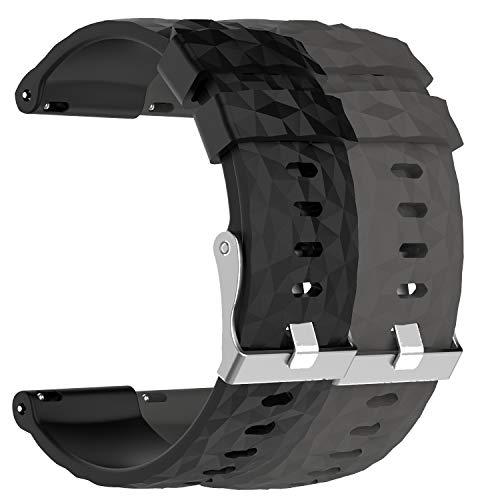 ruentech pulsera de repuesto para Suunto Spartan Sport muñeca HR Baro/Suunto 9Reloj de pulsera, color 2C pcs