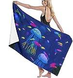 Piscina de Microfibra Toalla de Playa Acuario de Medusas Peces Algas Marinas Toalla de baño de Secado rápido Toallas de Surf Estera de Yoga
