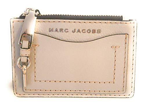 Marc Jacobs - Portachiavi in pelle, colore: grigio chiaro, 10 x 9 x 2 cm