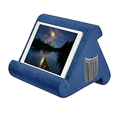 Storage Cubby Adjustable Angle Soft Pillow Lap Stand for iPads, All Tablets, E-Readers, Smartphones, Books, Magazines