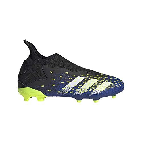 adidas Predator Freak .3 LL FG J, Zapatillas de fútbol, NEGBÁS/FTWBLA/Amasol, 38 2/3 EU