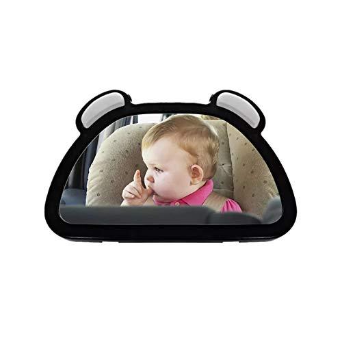 Espejo de Bebé para Coche Vista Del Coche Espejo Del Asiento Trasero Del Espejo Del Carro Del Bebé Niño Orientado Hacia La Parte Trasera Parrilla Del Bebé Cuidado Del Bebé Square Monitor De Niño Espej
