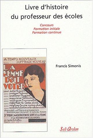 Livre d'histoire du professeur des écoles