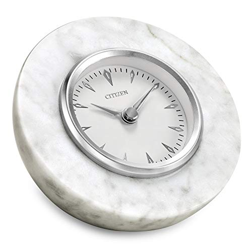 Citizen CC1020 Decorative Desk Clock, White