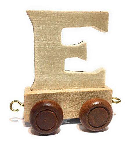 Buchstabenzug | Wunschname zusammenstellen | Holzeisenbahn | EbyReo® Namenszug aus Holz | personalisierbar | auch als Geschenk Set (Buchstabenzug E)