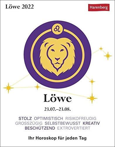Löwe Sternzeichenkalender 2022 - Tagesabreißkalender mit ausführlichem Tageshoroskop und Zitaten...