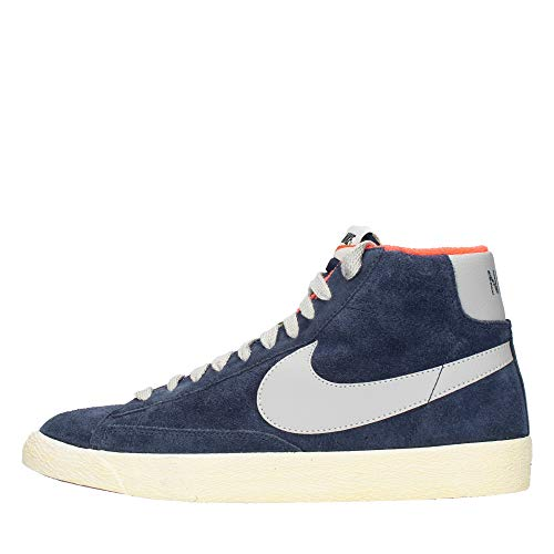 Nike Blazer Mid Premium Vintage Camoscio - Mid Navy/Strata Grey, Taglia 9