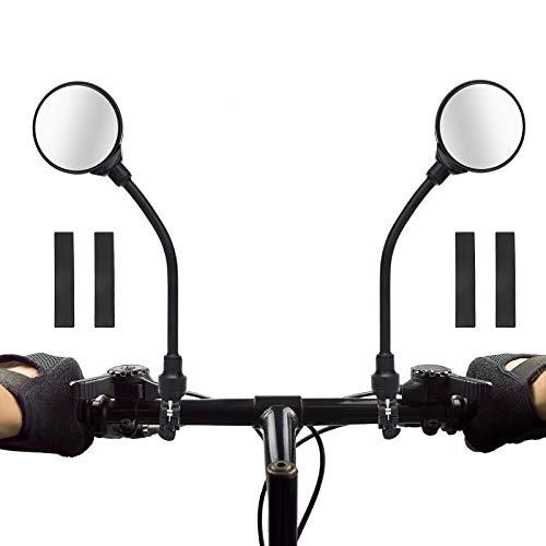 Coitak Bike Mirror, Adjustable Handlebar Rear View Mirrors, 2 PCS Convex Mirror Universal For Bike Bicycle