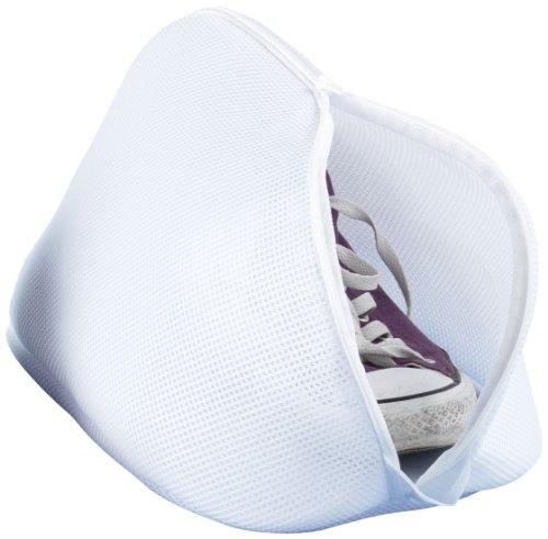 WENKO Schuh-Wäschenetz - mit Reißverschluss, 40 x 23 x 23 cm, weiß