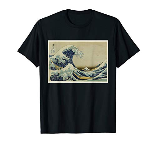 The Great Wave Japanese Woodblock Print Hokusai Art TShirt