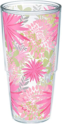Tervis Pink Mums Insulated Tumbler, 24oz - No Lid, Clear - Tritan