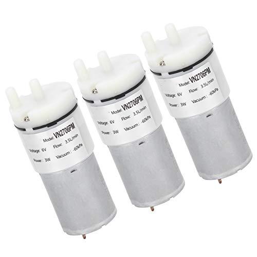 Aoutecen Accesorios para Bombas de Aire para acuarios Microbomba de Aire Microbomba de Agua de bajo Voltaje Caudal de 3,5 l/min Interruptor de presión Integrado para acuarios y peceras de tamaño