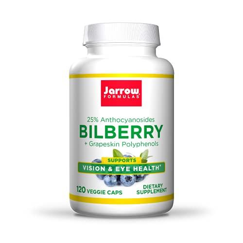 Jarrow Formulas Bilberry and Grapeskin Polyphenols 280 mg, Supports Vision, 120 Capsules