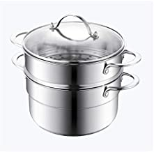 ZYSWP Stainless Steel Soup Pot Household Thickened Gas Induction Cooker Small Boiling Pot Steamer