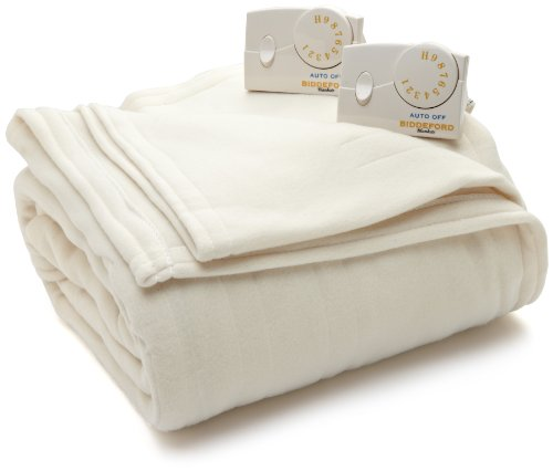 Biddeford Blankets Comfort Knit Heated Blanket, King, Natural