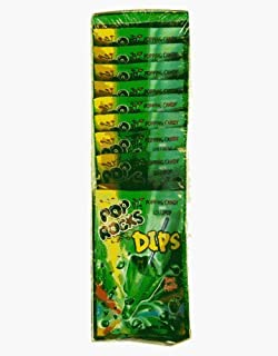 Pop Rocks Dips Sour Apple (18 Count packs of popping candy and lollipops )