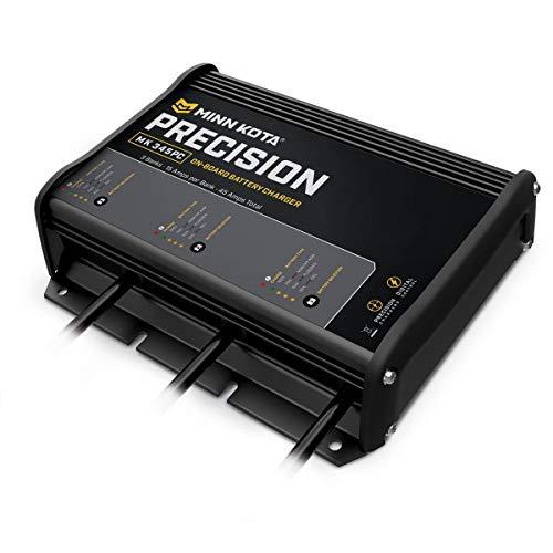 Minn Kota 1833180 Cargador de batería de precisión a Bordo de 6 A, 3 Bancos, Unisex, Negro, 6-Amp