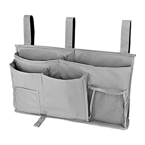 wivarra Aufbewahrung Tasche Am Bett Aufbewahrung Regal Am Bett 8 Taschen Geeignet für ZweisttCkige SchlafssLe und Krankenhaus Bett Schienen - A.