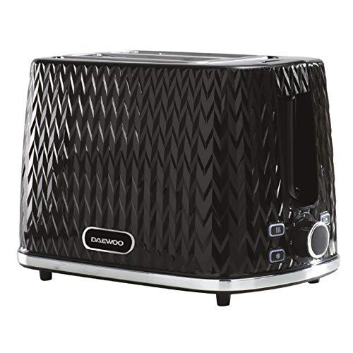 Daewoo SDA1774 Toaster, Black