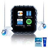 Delphin Waterproof Micro Tablet Compatible with Audible and More, Plus Built in Lap Tracking! (8GB, Swimbuds Sport)