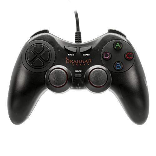 Konix Drakkar Manette Battle Axe - Manette PC - Manette pour PC Joystick Texture Gomme - Manette USB Gamer - Manette Design Ergonomique
