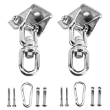 Storystore Heavy Duty Swing Hangers Suspension Hooks 1000 LB Capacity with Screws and Expansion Bolts for Playground Porch Yoga Seat Hammock Chair Sandbag Swing Sets Indoor Outdoor(2 Pack)
