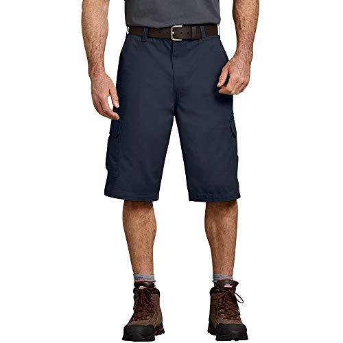 Dickies Men's 13 Inch Loose Fit Cargo Short, Dark Navy, 34