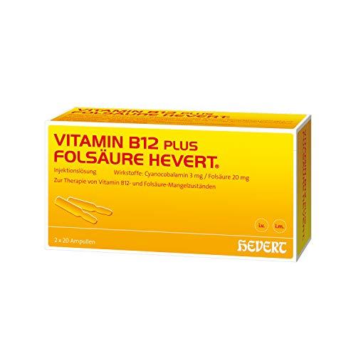 Vitamin B12 plus Folsäure Hevert Ampullen, 2x20 St. Ampullen