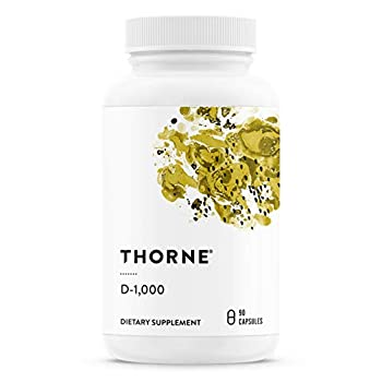 Thorne Research - Vitamin D-1000 - Vitamin D3 Supplement  1,000 IU  for Healthy Bones and Muscles - 90 Capsules