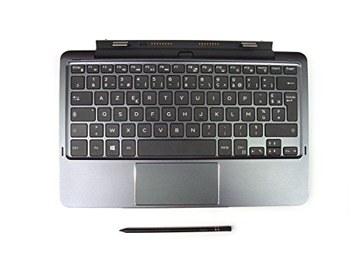 Genuine Original Dell Latitude 11 5175 5179 Tablet Keyboard K12M with Touchpad, AZERTY Layout for FRENCH FRANCAIS Language, with Dell Mini Active Pen Stylus, Built in additional Battery, P/N PM94M