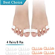 8PCS) Bunion Corrector, Toe Straightenen,Gel Toe Separator, Toe Spacers,Silicone Toe Stretchers Best for Bunion Corrector,Nail Corrector,Hammer Toe,Reduces Foot&Toe Pain/for Men and Women.
