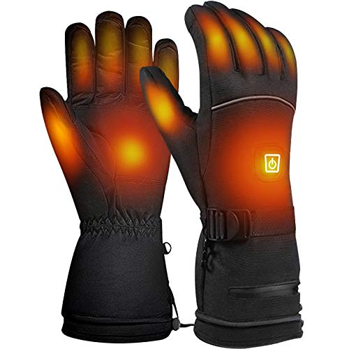PRUGNA Heated Gloves for Men, Battery Heating Ski Gloves -30 °F Cold Proof Winter Gloves, 3 Heating Level, up to 8hrs Warmth, Inner Waterproof Layer...