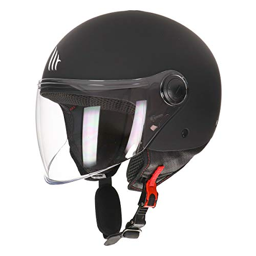 MT Street Jet-Helm · Motorrad-Helm Roller-Helm Scooter-Helm Bobber Mofa-Helm Chopper Retro Cruiser Vintage Pilot Biker ECE 22.05 (Matt Schwarz, L)