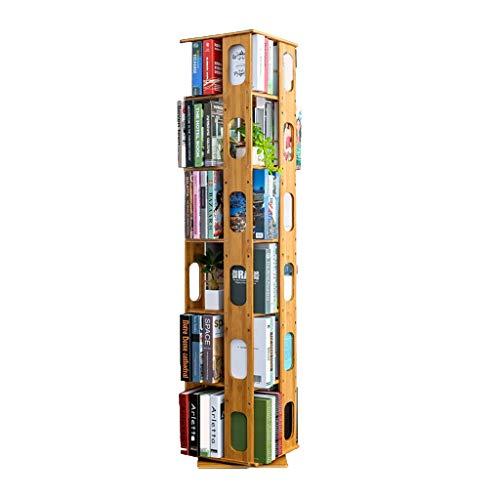 YTO Étagère 100% Bambou, bibliothèque tournante 360 Étagère pour Organiseur Rotatif Conception à...