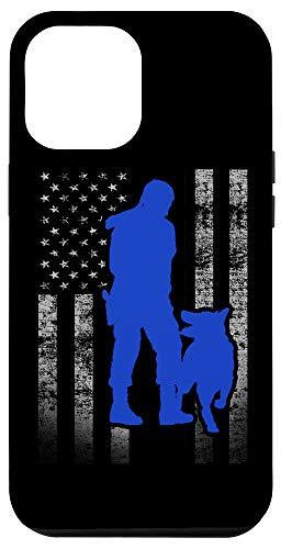 iPhone 12 Pro Max Female K-9 Officer Blue Line Flag for K9 Handlers Case
