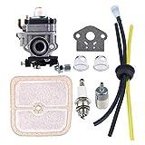 changzhou Juego de carburador, WYK-186 Carburador con filtro de aire de combustible Kit de afinación para Echo HCA260 HCA261 PE260 gasolina cortasetos Kit de piezas de repuesto para carburador
