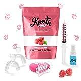 kit blanchiment dents - keeth goût framboise – obtenez de belles dents blanches à domicile grâce à notre soin unique de blanchiment dentaire professionnel français (framboise)