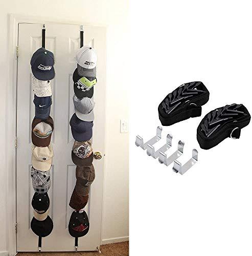 Wommty CapRack Kappenhalter/Ballcap Hut Rack Aufbewahrung/Baseball Cap Halterung/Handtasche Rack Organizer mit 16 (2 x 8) Haken