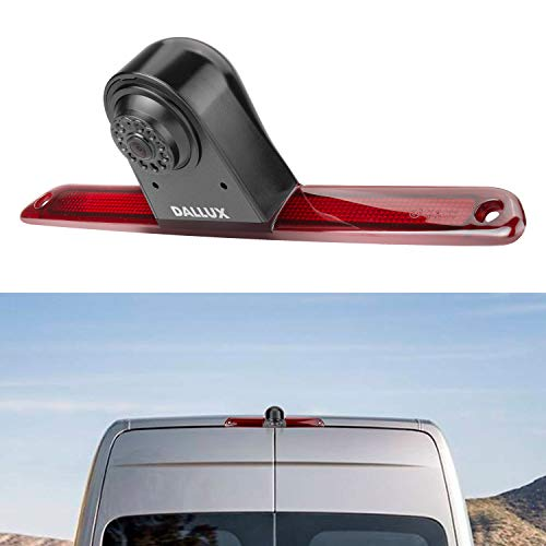 Brake Light Backup Rear View Camera for Mercedes Benz Sprinter/VW Crafter Van 2007-2018,Car 3rd 170° Wide Angle Waterproof Night Vision Microphone Built-in Adjustable Lens Roof Mount Reverse Cam