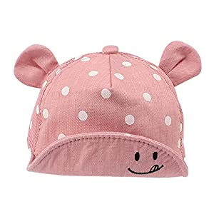 Pesaat - Gorra de algodón para bebé, para niña, niña, niño, sombrero de sol, ajustable, primavera, verano, 6 a 24 meses