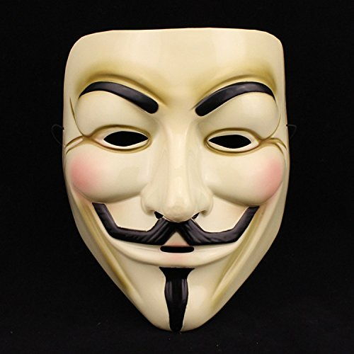 Domire V For Vendetta Guy Fawkes Fancy Dress Hallowee Face Mask by Domire