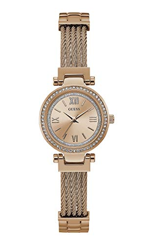 GUESS Mini Soho Damen-Armbanduhr 27mm Armband Edelstahl Batterie W1009L3