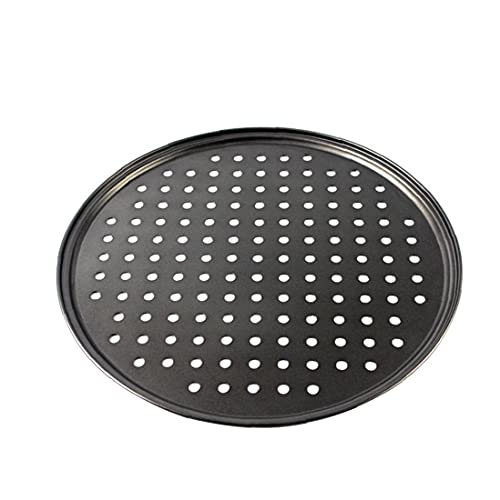 Perforated Pizza Tray Non Stick Baking Tray Pizza Pan Non Stick Carbon Steel Professional Bakeware 32cm Easy Cooking Tools Quick Cook