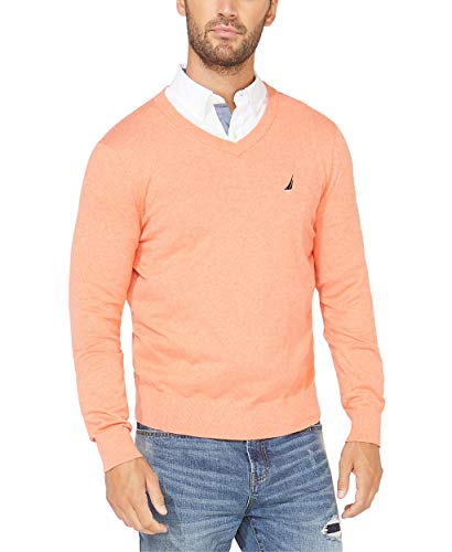Nautica Men's Navtech Jersey Sweater, Coral Heather, X-Large